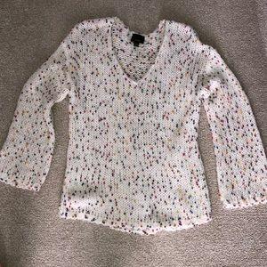 V neck confetti sweater